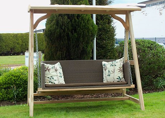teak frame all weather hammock